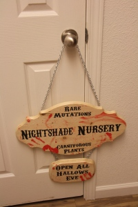 Hanging and Stake Garden Signs for my Evil Botanical Babies <3